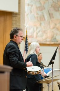 Evergreen Chamber Orchestra Percussion Section